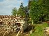 Výstavba naší myslivecké chaty.